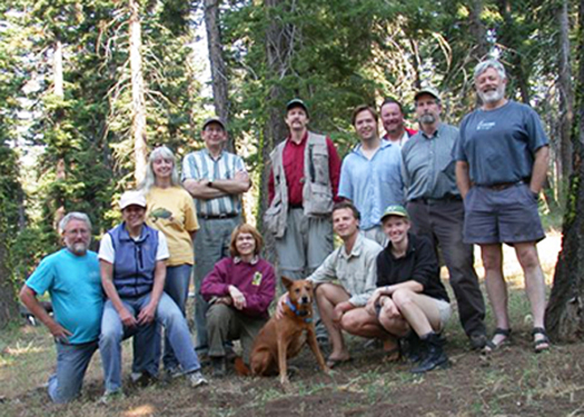 Participants (left to right) Bill Shepard, Roberta Brett, Cheryl Barr, Bob Zuparko, Carolynn Harvey, Kip Will, Willie the Wonder Dog, Peter Oboyski, Matthew Van Dam, Bob Brett , Ainsley Seago, Charles Griswold, Dave Kavanaugh.