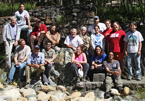 Participants from the 2010 collecting trip to Six Rivers National Forest, Del Norte County. (left to right) 1st Row: Matt Van Dam, Paul Da Silva, Maria Garcia, Roberta Brett, Natalia Chousou-Polydouri, Diamantis Sellis. 2nd Row: Jerry Powell, Adam Martinez, Kip Will, Steve Lew, Bill Shepard, Cheryl Barr, Sarah Crews, Christopher Marshall, Mark Murman, Louisa Hooven, Joyce Gross